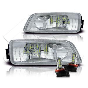 Fit 06-07 Honda Accord Inspire 4Dr Fog Light w/Wiring Kit & LED Bulbs