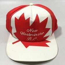 Vintage Snapback Trucker Baseball Hat British Columbia Canada Day Hat!