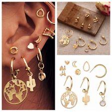 9Pcs/Set Fashion Ear Clip Bohemia Ear Cuff Stud Crystal Ear Earrings Jewelry Hot