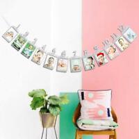 Baby Birthday Photo Folder Bunting Garland Banner 1-12 Months Growth Photo Props