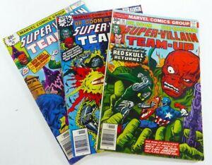 Marvel SUPER-VILLAIN TEAM-UP (1977-79) #10 15 16 VG/FN, FN+, VG+ LOT Ships FREE!