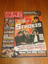 NME 2002 MARCH 2 STROKES OASIS LINKIN PARK U2 RAMONES RADIOHEAD