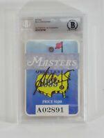 Vintage Ben Crenshaw Autographed 1995 Golf Masters Badge Signed Slabbed BAS COA