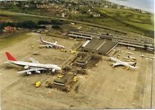 Airport Postcard Prestwick DC8 & Northwest B747