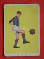 VECCHIA FIGURINA RASA calcio football 1961 BOLOGNA FC Romano Fogli