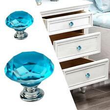 Kristall Türknauf Glas Antik Vintage Set Knöpfe Schubladenschrank ziehen