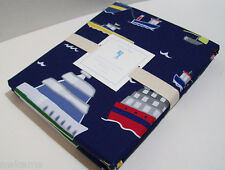 Pottery Barn Kids Sail Boat Ship Boats Cotton Twin Duvet Cover New