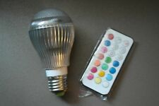 9W E27 Color LED RGB Light Bulb with Wireless Remote