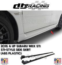 ST-Style Side Skirts (ABS Plastic) Fits 15-17 Subaru WRX STi 4dr JDM STI