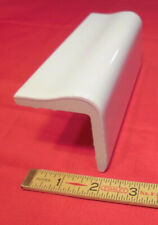 1 pc. *Bright Glossy White* V Cap Ceramic Trim Tile; Counter Top Edging;  New