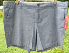 New Merona womens blue cotton shorts size 18