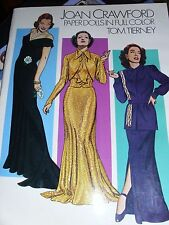 "Paper Dolls ""Joan Crawford"" Tom Tierney Full Color 1983 Biography Dates Film"