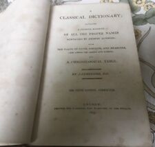 The Ninth Edition (1815) Of Lempriere's Classical Dictionary. Leather-bound
