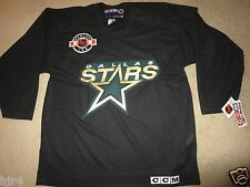 Dallas Stars Hockey CCM Black Center Ice NHL Jersey LG L NEW