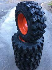 4 HD Camso SKS753 12-16.5 Skid Steer Tires/Wheels/Rim for Bobcat & more- 12X16.5