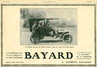 Publicité ancienne automobile Bayard A. Clément constructeur 1908 issue magazine