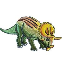 Triceratops Dinosaur Iron On Patch Sew on transfer Embroidered badge New
