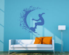 ik1117 Wall Decal Sticker surf board wave ocean Hawaii bedroom