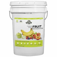 260 FRUIT Freeze Dried Food Storage Emergency Supply Bucket Rations Kit Survival
