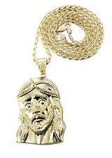 10K Yellow Gold Fancy Link Chain & Jesus Piece Chain | Appx. 15.2 Grams