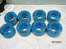 Lot of 8 DOMINION ESPRIT Vintage BLUE Roller Skate Wheels w/out Bearings