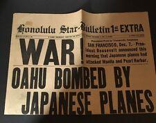 1970s Honolulu Star Bulletin Dec.7,1941 WWII Pearl Harbor Reproduction Newspaper