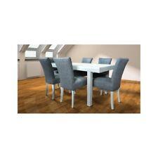 6x Stuhl Stühle Polster Textil Stoff Garnitur Set Komplett Designer Lehnstuhl !!