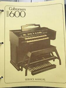 Gulbransen Organ Service Manual MODEL SERIES 600