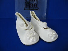 Doll Shoes Vintage Unused Playhouse Collection White w/ Strap & Decorative Bow