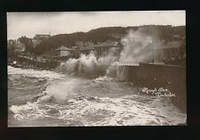 Somerset CLEVEDON Rough Sea early c1910/30s? RP PPC by Harvey Barton