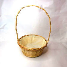 Vintage Flower Girl Basket Wicker Basket French Country Home Decor Woven Basket