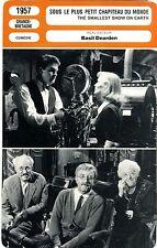 Fiche Cinéma. Movie Card. Sous le plus petit chapiteau du monde (G-B) 1957