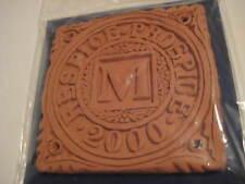 Vintage Original Millennium Terracotta Tile Respice Prospice Black Dog Wells 4X4