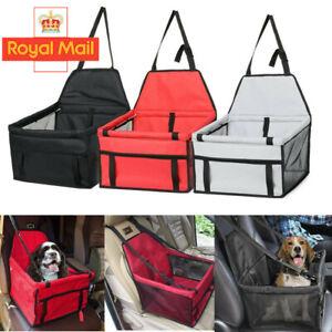 Folding Pet Dog Car Seat Safe Booster Cat Puppy Travel Carrier Bed Bag Basket UK