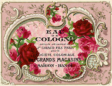 VinTaGe IMaGe PinK RoSeS FRenCh PerFuMe LaBeLs ShaBby WaTerSLiDe DeCALs
