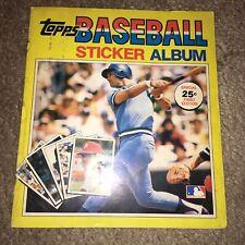 1981 Topps Baseball Sticker book Album Rose Schmidt Jackson Brett Ryan