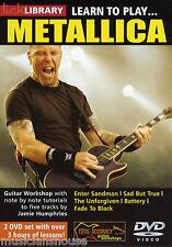 LICK LIBRARY Learn to Play METALLICA Tutor ENTER SANDMAN Rock Lesson GUITAR DVD