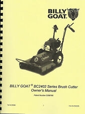 Billy Goat Brush Cutter BC2402 Series Owner's Manual