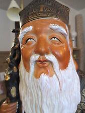 2 FOOT KUTANI Japanese buddha statue vtg antique chinese porcelain art pottery