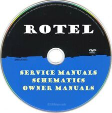 Rotel Service Manuals & Schematics- PDFs on DVD - Ultimate Collection