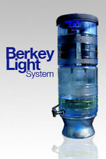 NEW BERKEY LIGHT Water Filter System w/ Bottle & PF-2