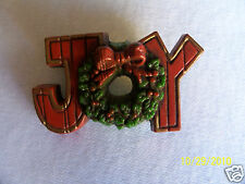 HALLMARK Christmas Joy Wreath Pin