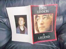 "THE BEATLES ""JOHN LENNON A LEGEND"" DECEMBER 1980  MAGAZINE Near MINT 1940-1980"