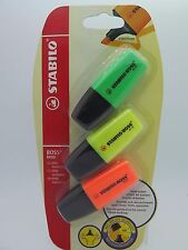3Pk Stabilo Mini Boss Highlighter Set Green Yellow Pink 0386630
