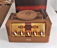 VTG Clarion Karaoke Phonograph Record Player Model A-61, AC/DC, 2 Mic Inputs
