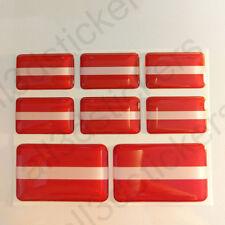 Pegatinas Letonia Pegatina Bandera Letonia Vinilo Adhesivo 3D Relieve Resina