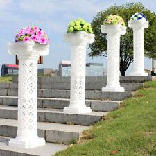 4X 100CM Plastic Roman Pillar Pedstal Stand Flower Holder Wedding Outdoor Indoor