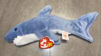 Original Ty Beanie Baby CRUNCH The Shark With Tag Style 4130 Vintage Beanie