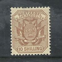 1895 Queen Victoria SG212a 10s. chestnut mint hinged TRANSVAAL