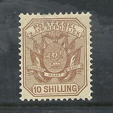 1895 Queen Victoria SG212a 10s. chesnut mint hinged TRANSVAAL
